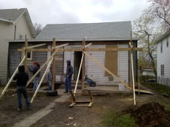 framing for new back porch installed
