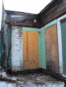 Existing front porch demolished