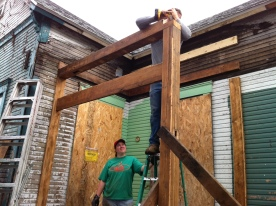 Column and beam installation